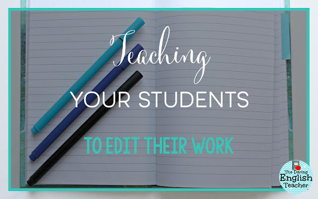Teaching Your Students to Edit Their Work