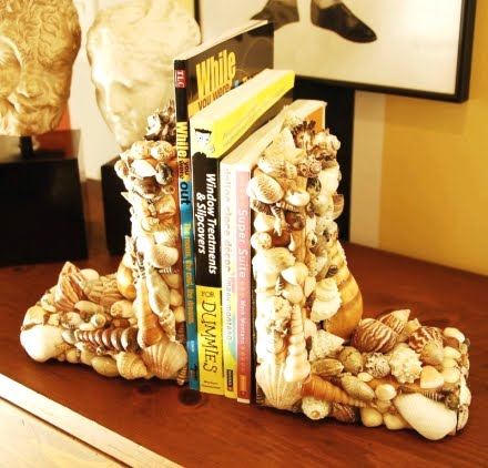 make bookends with shells
