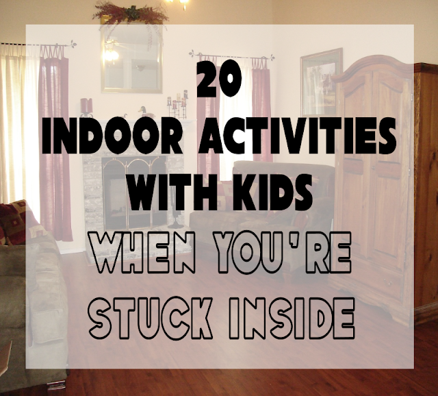 20 Indoor Activities with Kids When You're Stuck Inside -- A sarcastic look at what to do when trapped at home with a houseful of stir-crazy kids. (Spoiler alert: Contains no useful information.)  {posted @ Unremarkable Files}