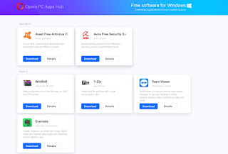 Opera PC Apps Hub Lets You Download PC Softwares For Free