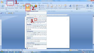 Screenshot aus Word: Zugriff auf AutoFormen