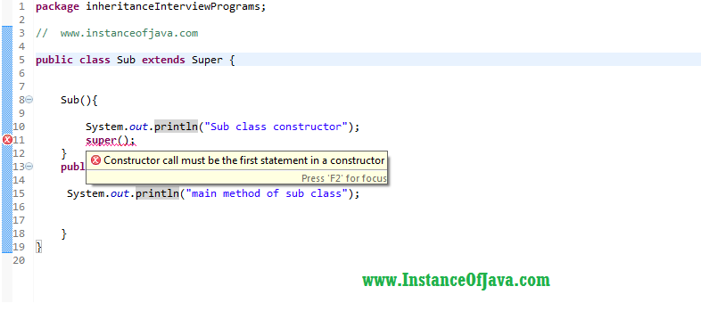 super keyword in java inheritance