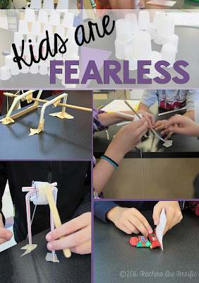STEM Class: Kids are fearless in their designs and how they build things. They think way differently than adults in solving a dilemma and it's fascinating to watch!