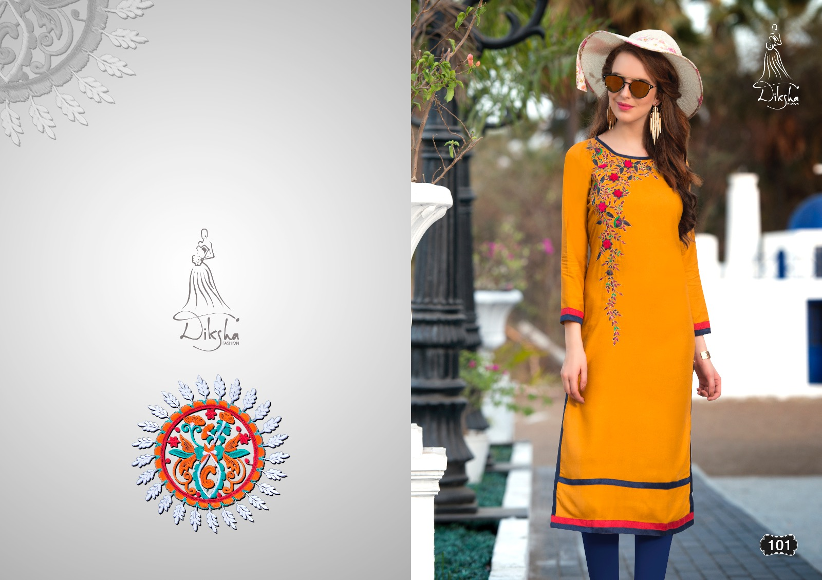 Siya Vol 1 – Reyon Printed Long Straight Kurti
