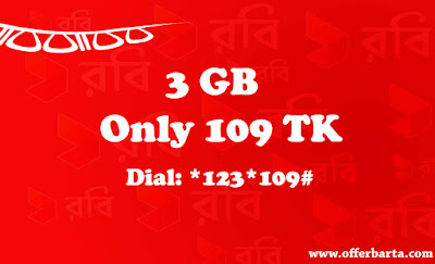Robi 3GB Only At 109TK Night-Doubler Pack New Internet Offer 2017 - posted by www.offerbarta.com