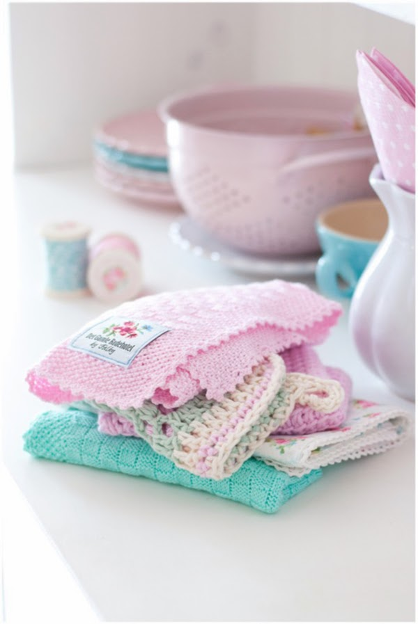 Knit and crochet dish cloths from Falby