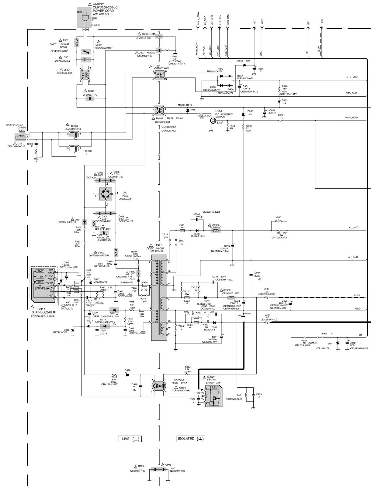 JVC AV27D502 AR  AV27D502  SMPS  Schematic Diagram