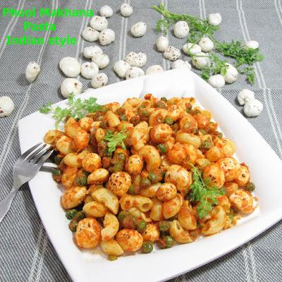 fox nut seed pasta