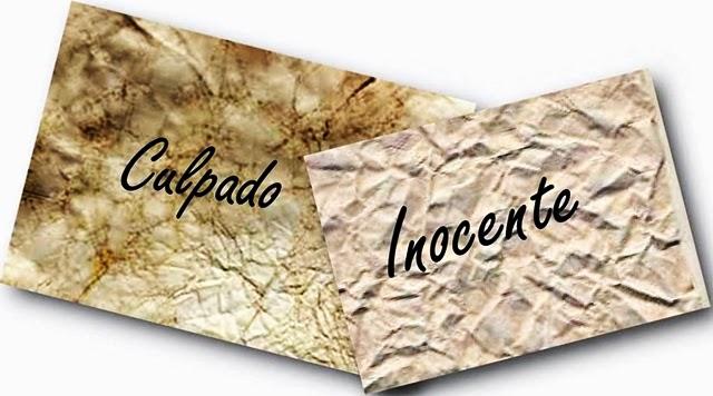 Resultado de imagem para culpado ou inocente