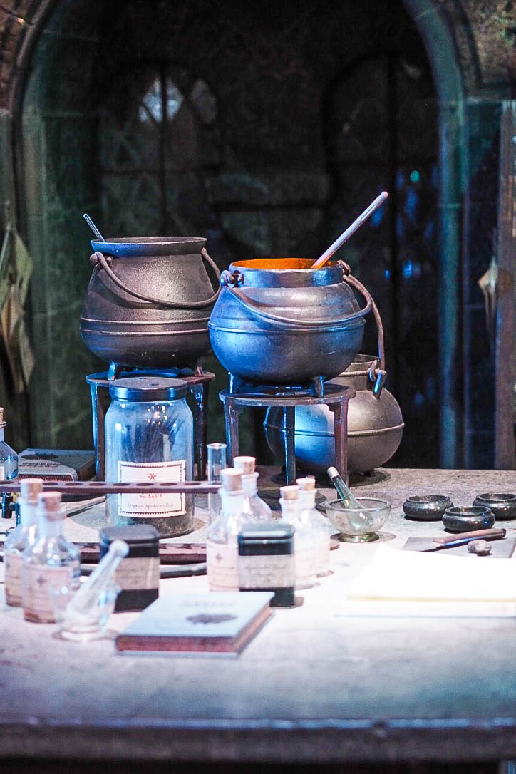 Potions lab at Harry Potter Warner Brothers Studio Tour
