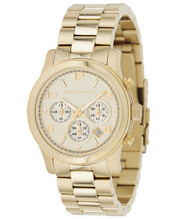 Michael Kors Runway Gold-Tone Watch $100 (reg $250)
