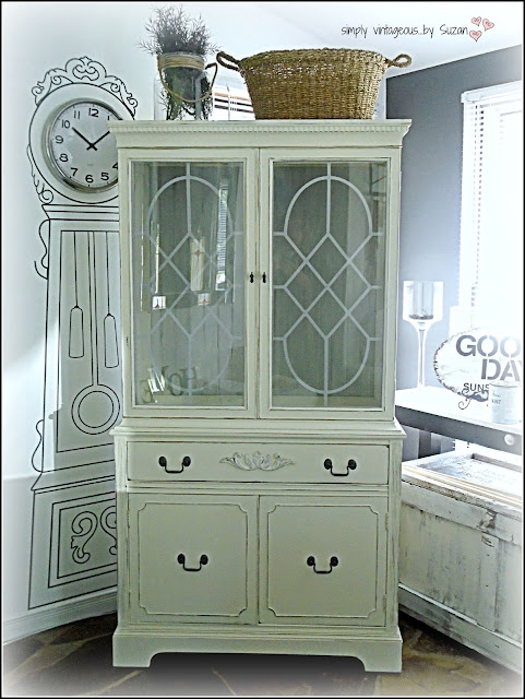 ASCP - painted & distressed hutch