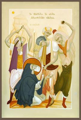 Το μαρτύριο του Αγίου Χρυσοστόμου Σμύρνης