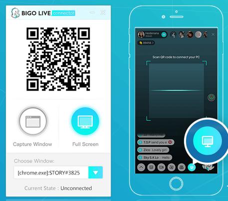 Menampilakan Layar Komputer Saat Live Bigo, Cara Lengkap Menggunakan BIGO LIVE Connector