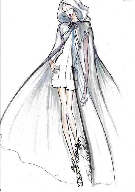 robe de mariee Fanny Liautard cape de tulle pour mariage