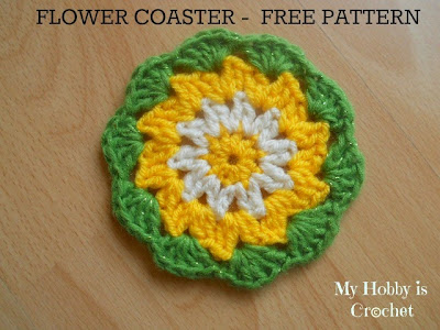 Crochet Daisy / Flower Coaster -  Free Pattern with Tutorial