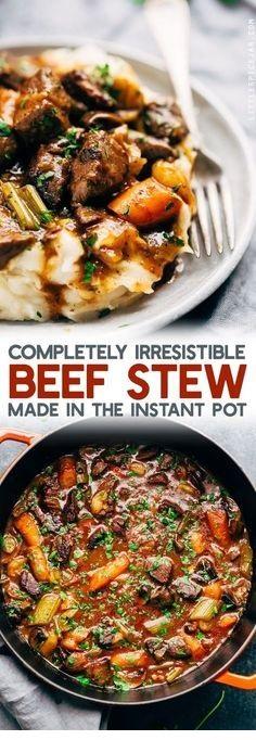 Irresistible Instant Pot Beef Stew