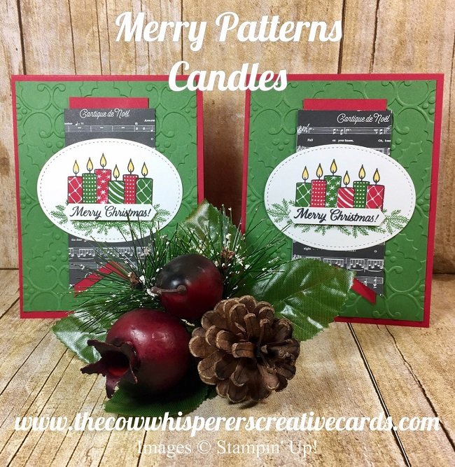 Candles, Christmas Card, Merry Patterns, Stampin Up,