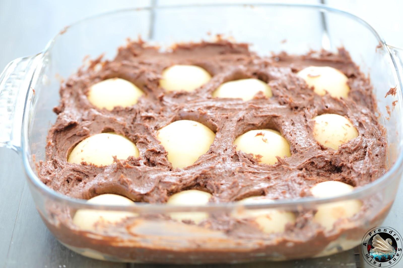 Gâteau au chocolat et à la poire