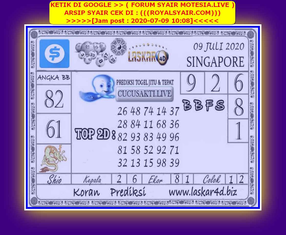 Kode syair Singapore Kamis 9 Juli 2020 139