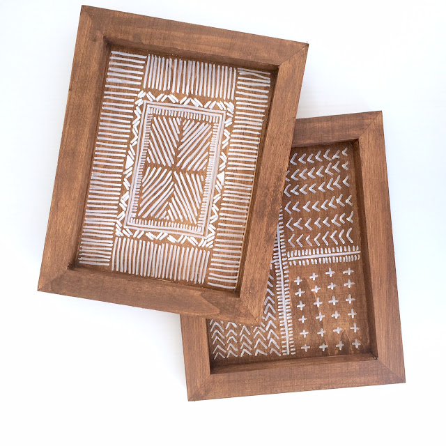 DIY Wooden Aztec Tray Anthropologie Hack - Harlow and Thistle - 1
