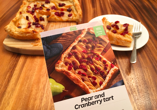 Pear and Cranberry Tart Recipe #DiscoverFresh