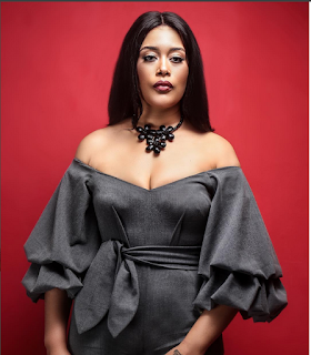 Sultry Actress, Adunni Ade Flaunts V-Shape As She Sizzles In Adunni Jumpsuit