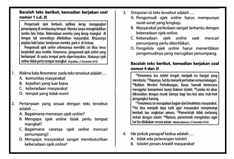Soal UCUN SMP DKI 2017