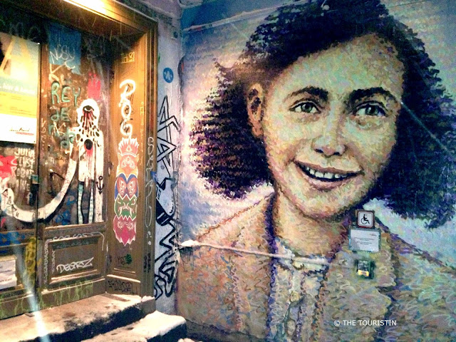 mural anne frank berlin