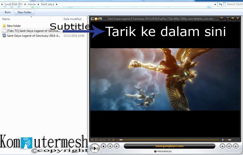 cara menggabungkan film dengan subtitle tanpa software