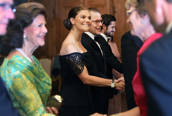 Crown Princess Victoria wore By Malina Othelia Dress, Princess Sofia wore Stylein Ixoy Dress. Queen Silvia