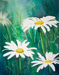 Wild Daisies – Watercolor Painting – Step 3