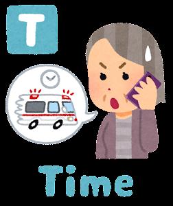 脳卒中の症状の「Time」のイラスト