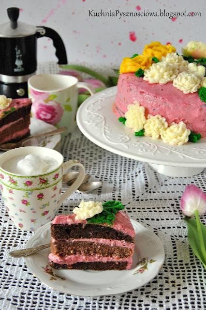 497. Lekki tort z musem wiśniowym