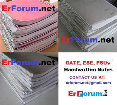 GATE, ESE, PSUs Handwritten Notes For All Branches