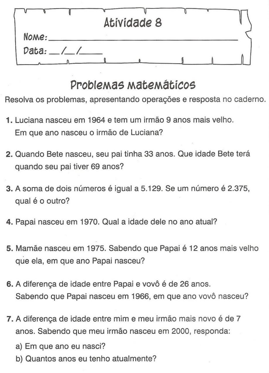 Portal Escola Atividades De Matematica 3 4 5 Ano Exercicios Imprimir I