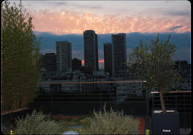 Coucher de soleil sur le rooftop