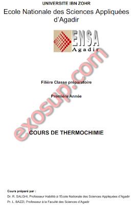 ENSA Agadir Cours Thermochimie