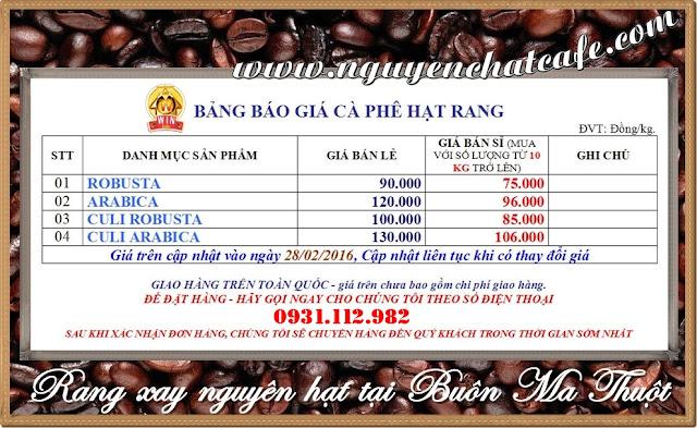 Cà phê hạt rang giá rẻ Buôn Mê Thuột