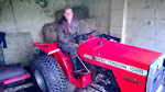 Kathy and the tractor