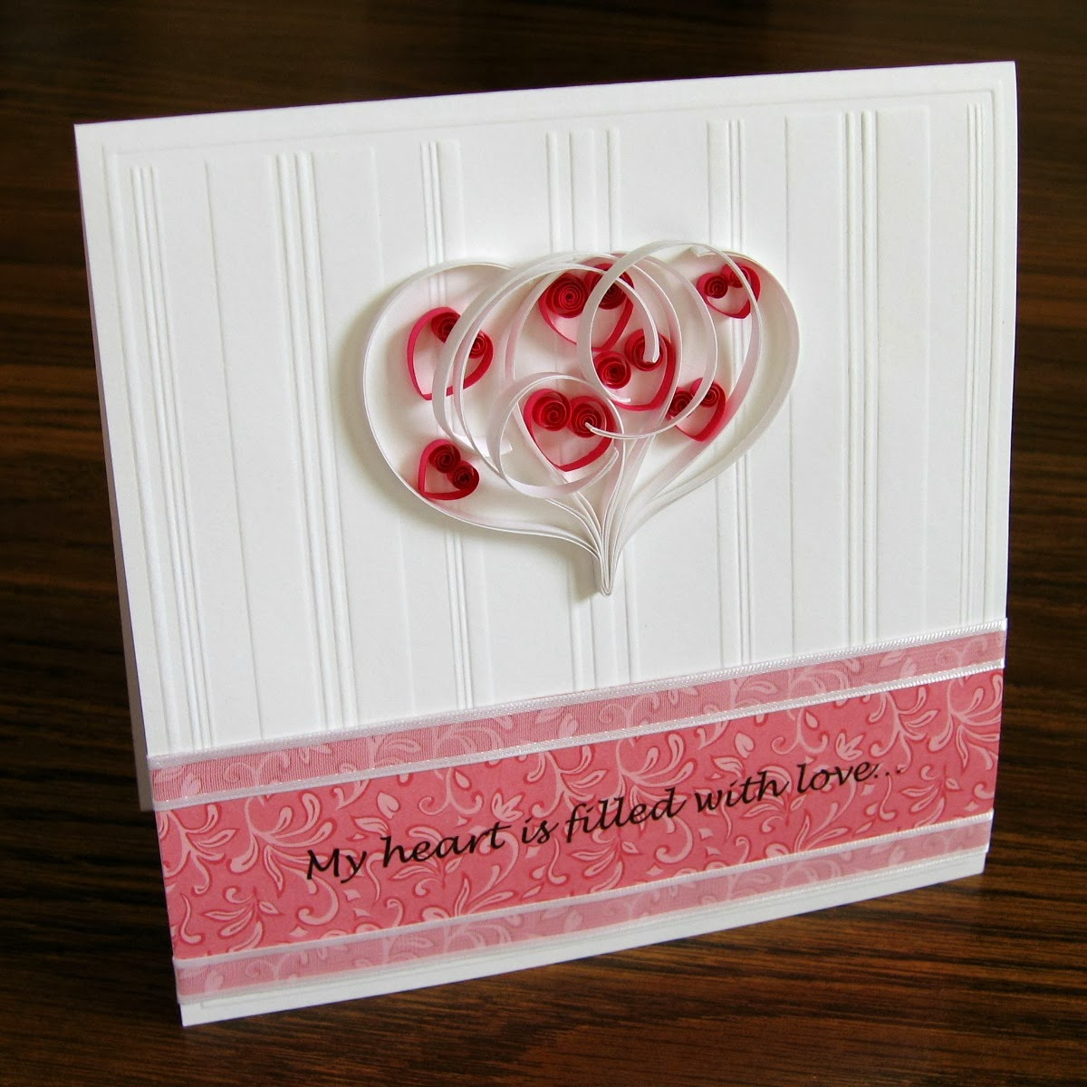 Quilled Valentine Hearts Card