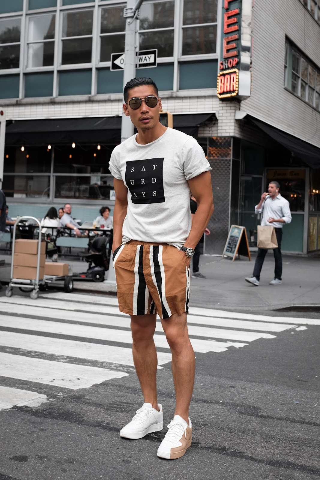 How To Wear Striped Shorts 2 Ways Men S Summer Fashion