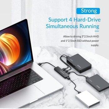 ORICO High Speed 4 Ports USB Hub with OTG Adapter