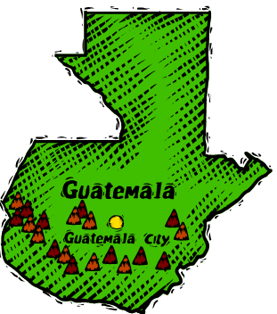 Sketch map illustration of Guatemala