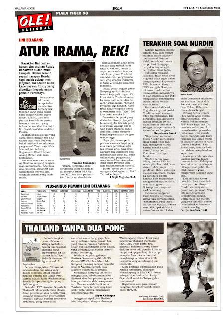 SEPAKBOLA PIALA TIGER 98 TIM NASIONAL INDONESIA