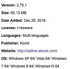 Calibre Free Download Offline Installer