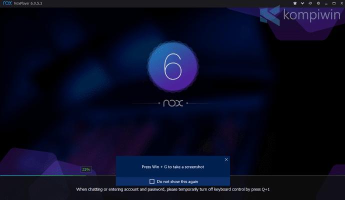 startup noxplayer untuk memainkan games aplikasi android di komputer