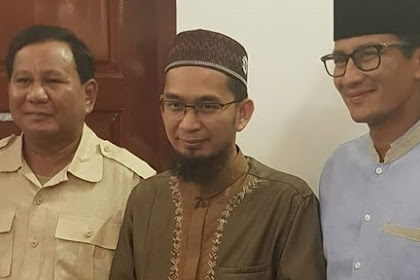 Setelah UAS, Kini Giliran Ustadz Adi Hidayat Dukung Prabowo-Sandi