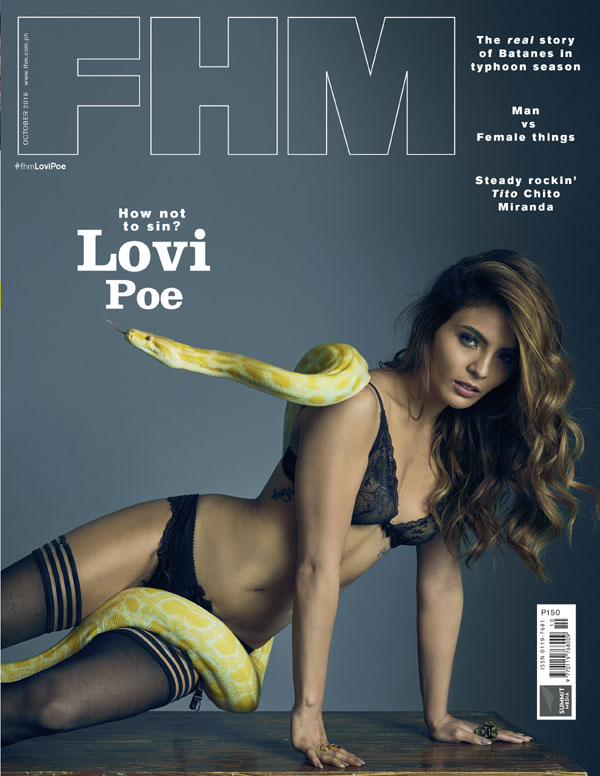 Lovi Poe FHM October 2016 cover