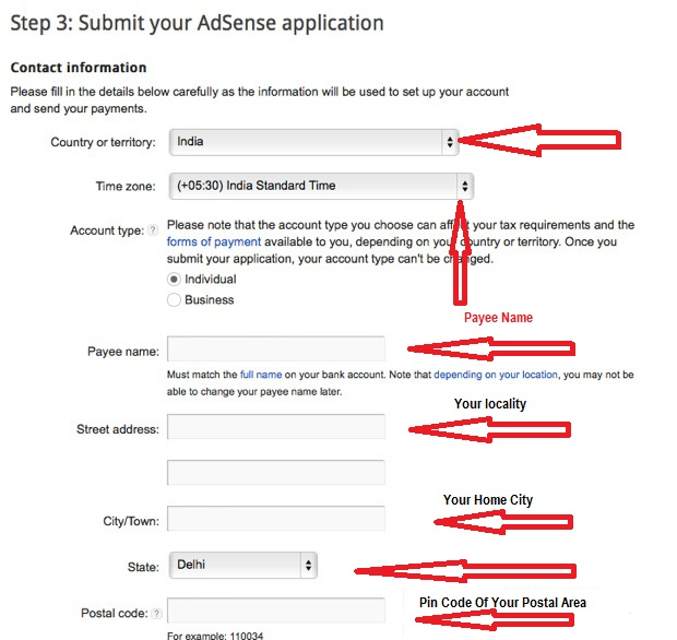 Adsencse-payee-details